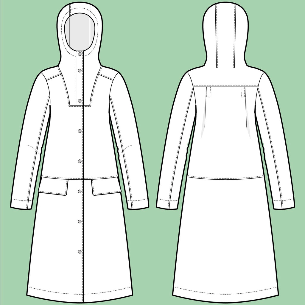 The Assembly Line, Hoodie Parka Pattern, Sweden