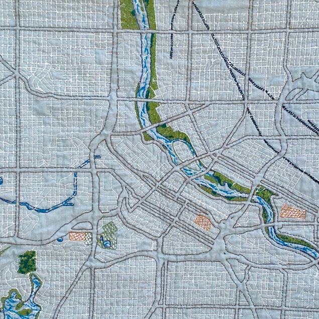 City Map Quilt Template - Lakes Makerie - Minneapolis, MN