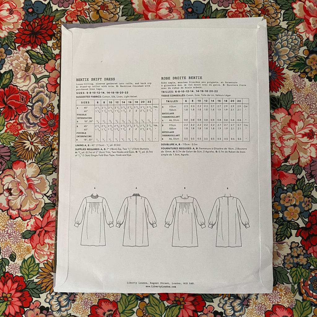 Liberty Bertie Shift Dress Sewing Pattern - Lakes Makerie - Minneapolis, MN
