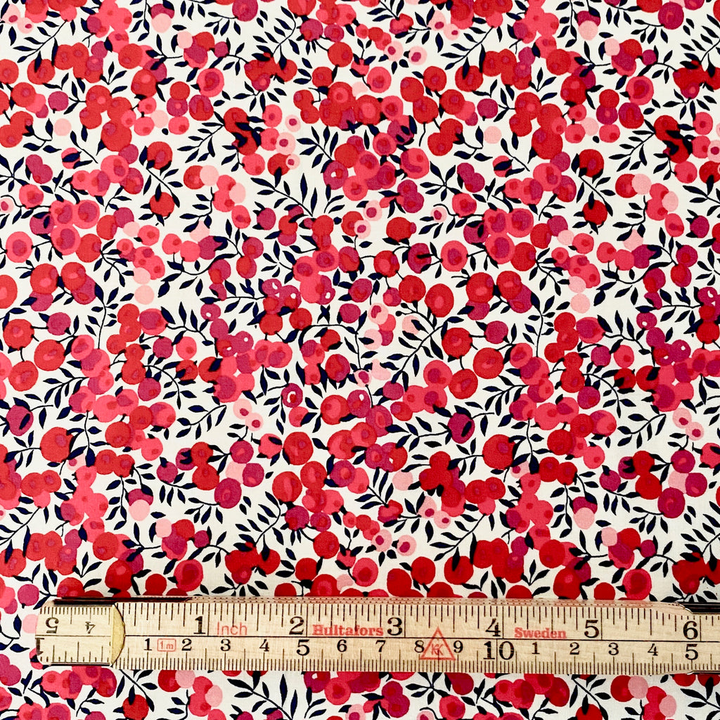 Liberty Tana Lawn Cotton Fabric, Wiltshire Red, 1/2 yard - Lakes Makerie - Minneapolis, MN