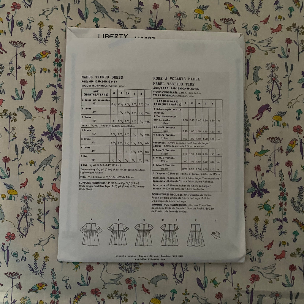 Liberty Mabel Tiered Dress Sewing Pattern - Lakes Makerie - Minneapolis, MN