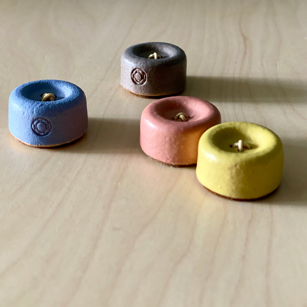 Magnetic Ceramic  Button Needle Holder from Cohana, Japan, multiple colorways