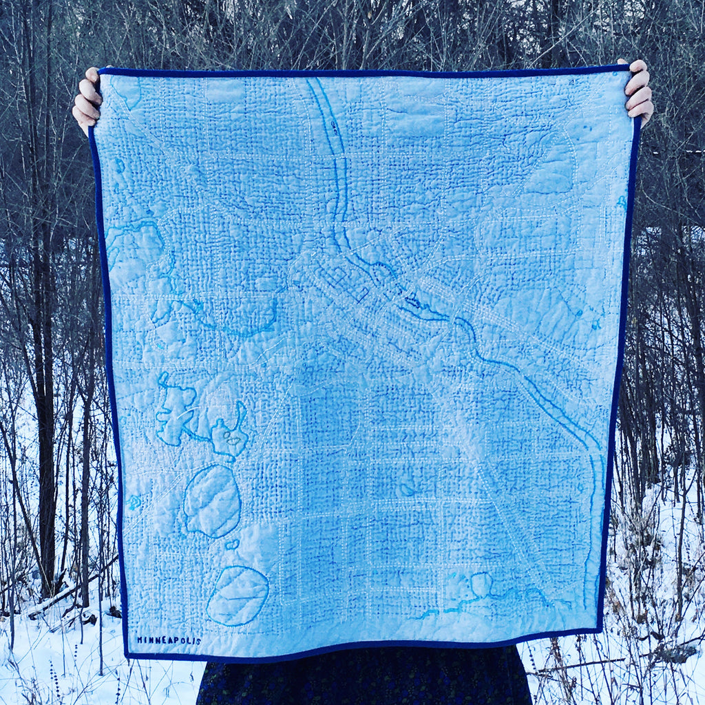 Haptic Lab Map or Constellation Quilt , Preparation and Set-Up - Lakes Makerie - Minneapolis, MN