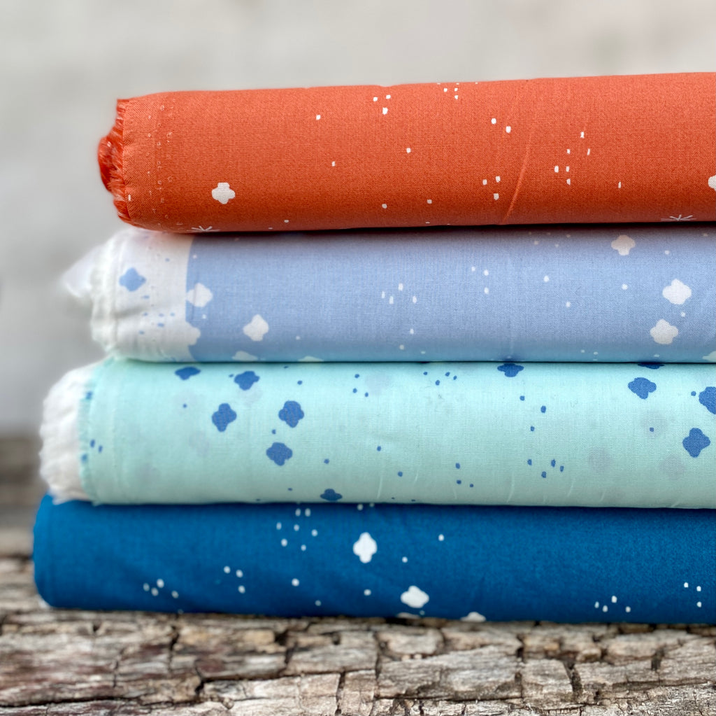 Birch, Jenny Ronen Basics, Cloudy Sky, Organic Cotton Poplin fabric,  1/2 yard