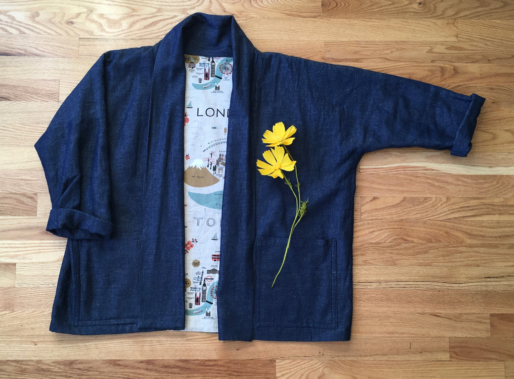 Make the Wiksten Haori (formerly Kimono) Jacket, Three Thursdays, March 21, March 28 April 11  7-9 PM - Lakes Makerie - Minneapolis, MN