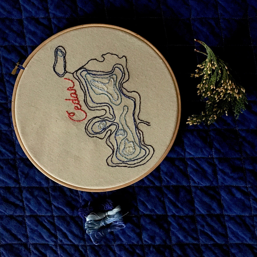 Portraits of Water Embroidery, February 24 (Sunday), 1-4 PM. - Lakes Makerie - Minneapolis, MN