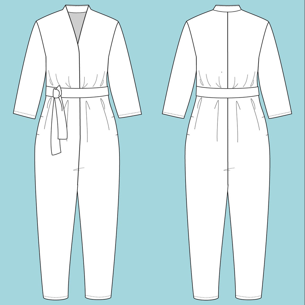 Assembly Line V-Neck Jumpsuit Pattern, Sweden