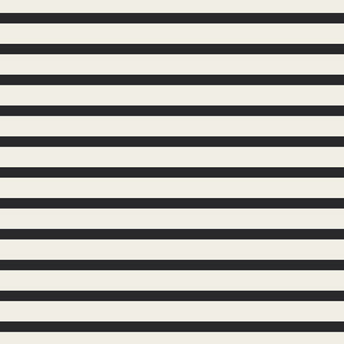 White with narrow black stripe,  Cotton/Spandex Jersey Knit Fabric, 1/2 yard
