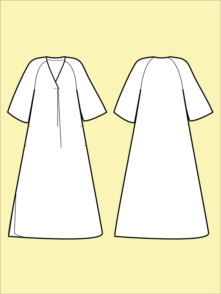 Assembly Line Kaftan Dress Pattern, Sweden, sizes XS-L