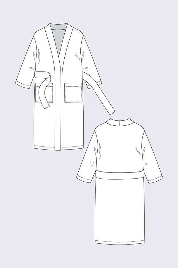 Named Clothing,  Lahja Unisex Dressing Gown (Robe) Pattern