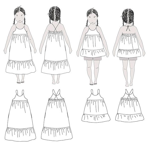 Ikatee (France), Lena Dress Sewing Pattern - Girl, 3-12Y