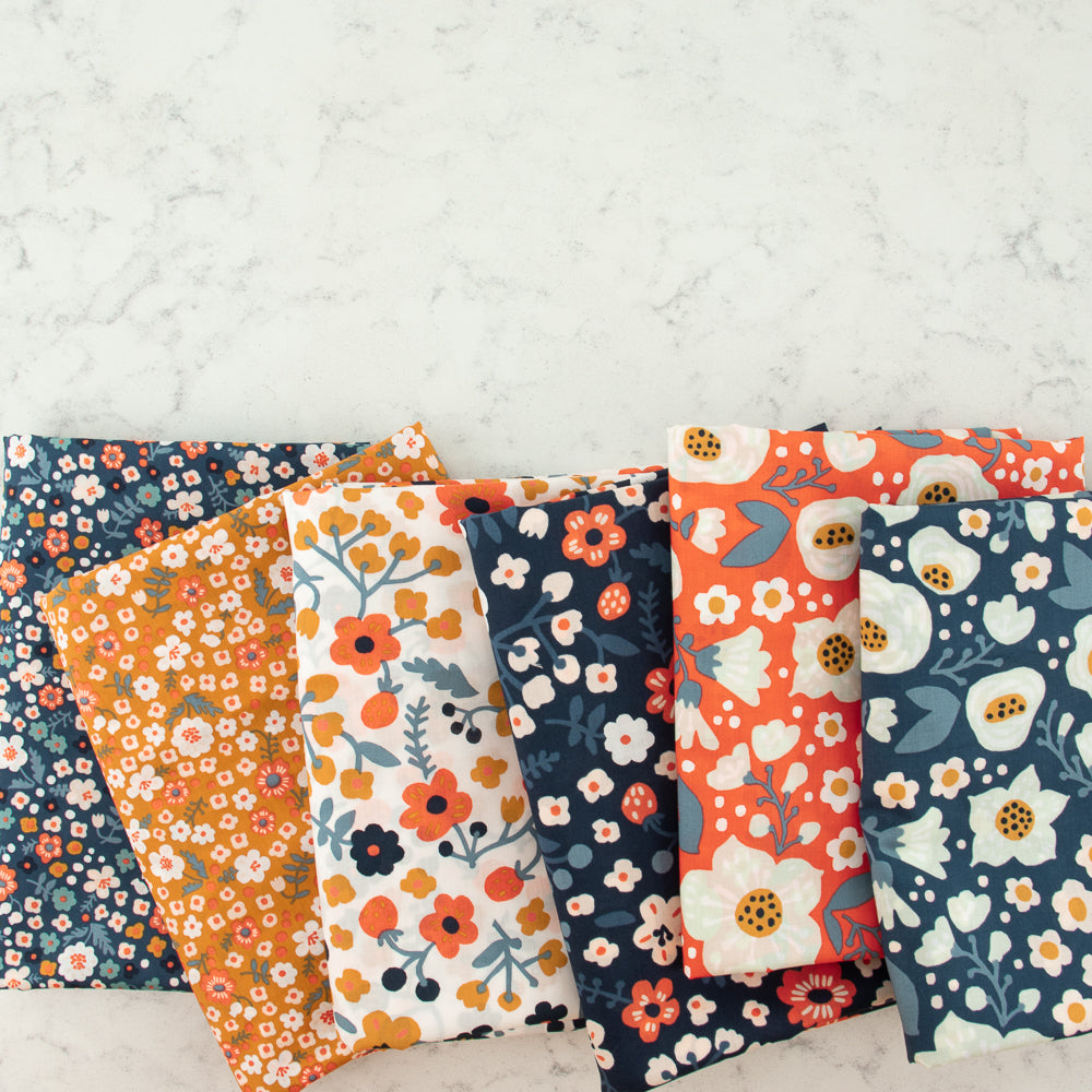 Birch Organic Bella Cotton Lawn by Kristin Barouche, Prints, Bella Donna Coral, 1/2 yard