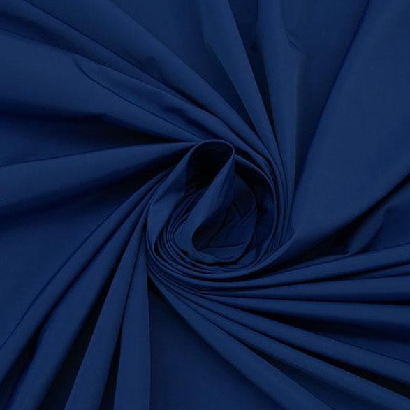 Bright Navy, 100% Nylon Water Repellent Taffeta Jacketing- NY designer, 1/2  yard