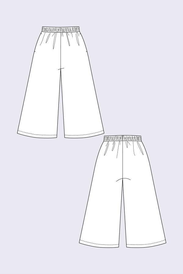 Named Clothing, (Updated) Ninni Elastic Waist Culottes Pattern