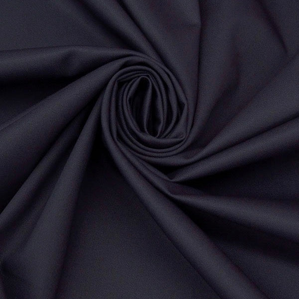Designer Deadstock Navy Twill Bottomweight, 1/2 yard