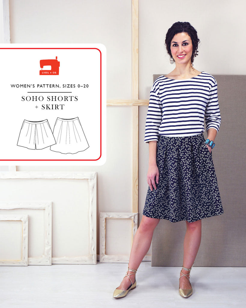 Liesl + Co., Soho Shorts and Skirt Pattern