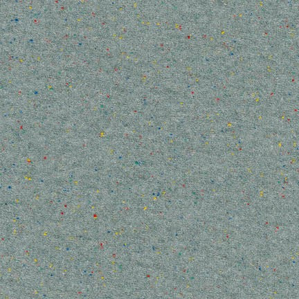 Speckle Cotton Jersey Knit 1/2 Yard, Charcoal with multicolor motes - Lakes Makerie - Minneapolis, MN