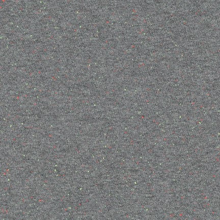 Speckle Cotton Jersey Knit 1/2 Yard, grey with multicolor motes