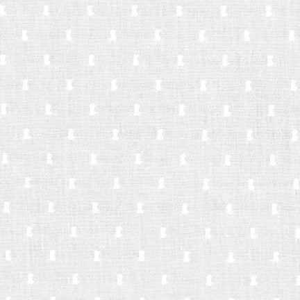 Swiss Dot Cotton Batiste Fabric,  ivory, 1/2 yard