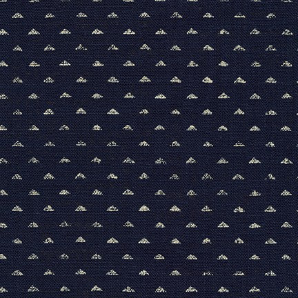 Sevenberry Nara Homespun Cotton Fabric, Triangle dots on Indigo, 1/2 yard - Lakes Makerie - Minneapolis, MN