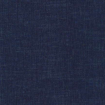 Sevenberry Nara Homespun Cotton Fabric,Indigo Crosshatch, 1/2 yard - Lakes Makerie - Minneapolis, MN