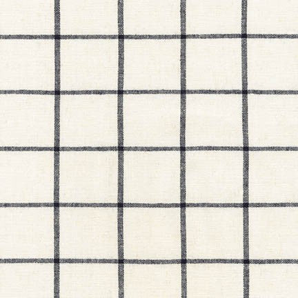 Robert Kaufman, Essex Yarn Dyed Classic Wovens, Window Pane Check Linen and Cotton Fabric, 1/2 Yard - Lakes Makerie - Minneapolis, MN