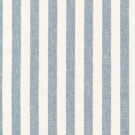 "Robert Kaufman, Essex Yarn Dyed Classic Wovens, 1/2"" Striped Linen and Cotton Fabric, 1/2 yard, multiple color ways"