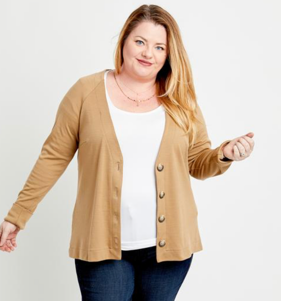 Cashmerette Fuller  Cardigan Curvy Sewing Pattern - Lakes Makerie - Minneapolis, MN