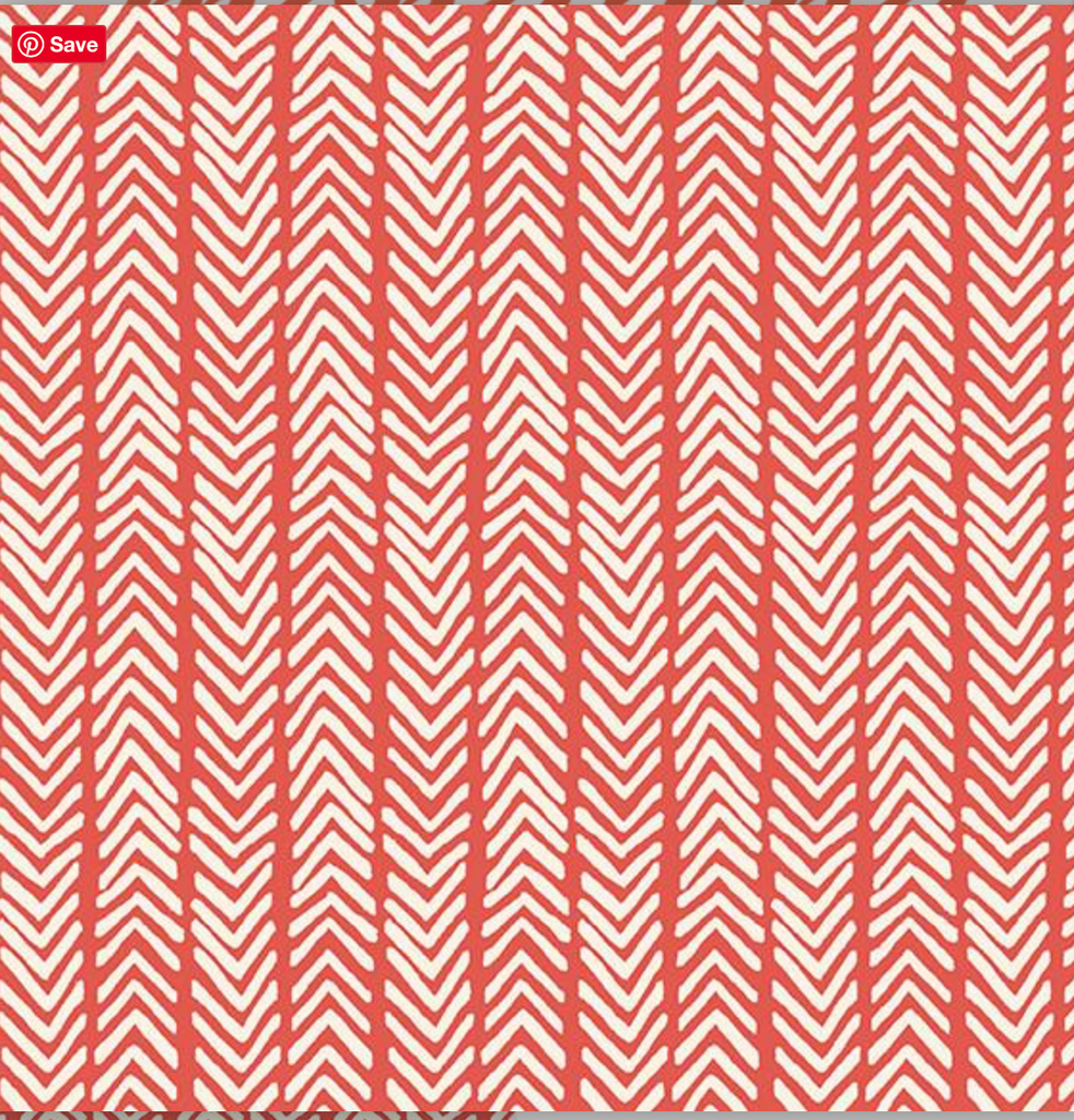 Monaluna Herringbone Red and White Cotton Lawn Fabric, 1/2 yard - Lakes Makerie - Minneapolis, MN