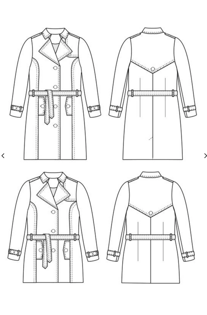 Cashmerette Chilton Trench Coat, Curvy Sewing Pattern - Lakes Makerie - Minneapolis, MN
