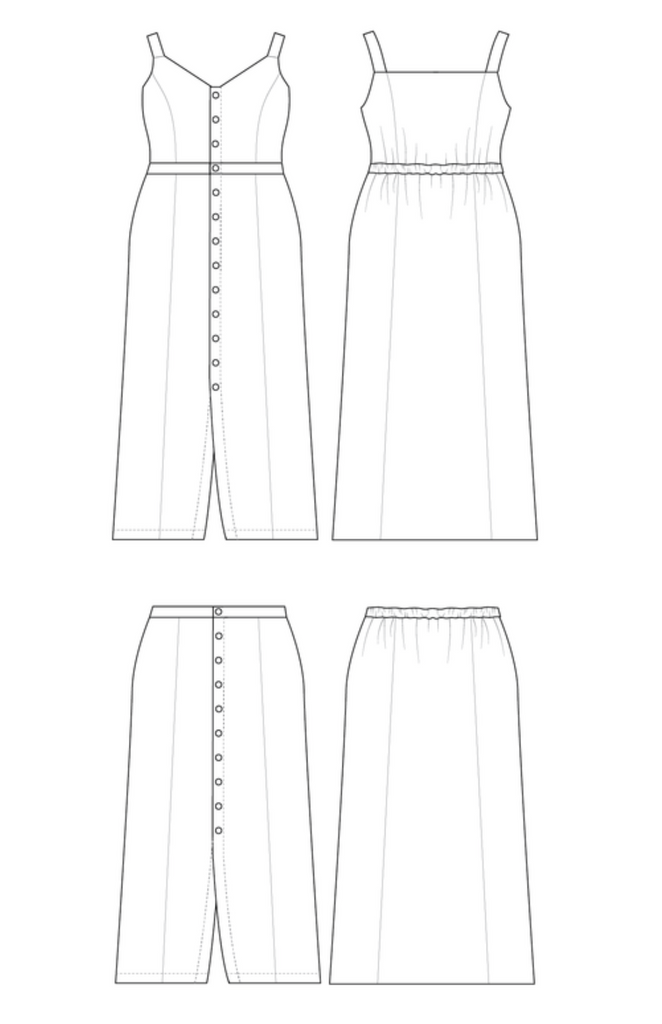 Cashmerette Holyoke Maxi Dress and Skirt Pattern - Lakes Makerie - Minneapolis, MN