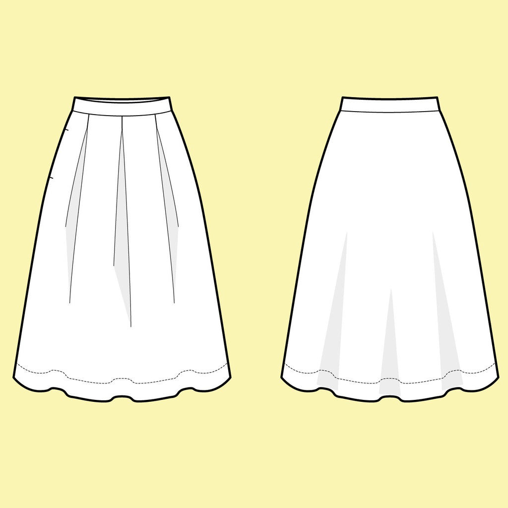 Assembly Line, Three Pleat Skirt Pattern, Sweden