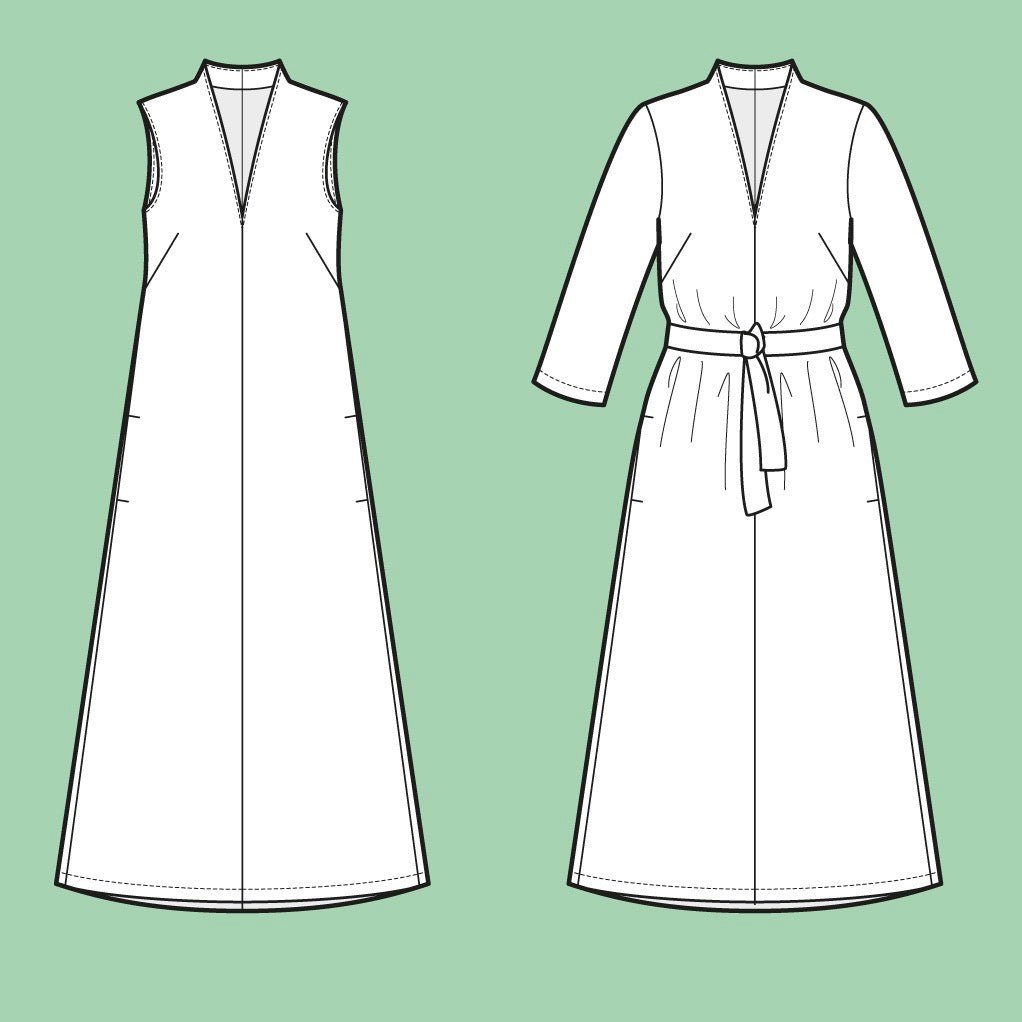 Assembly Line V-Neck Dress Pattern, Sweden