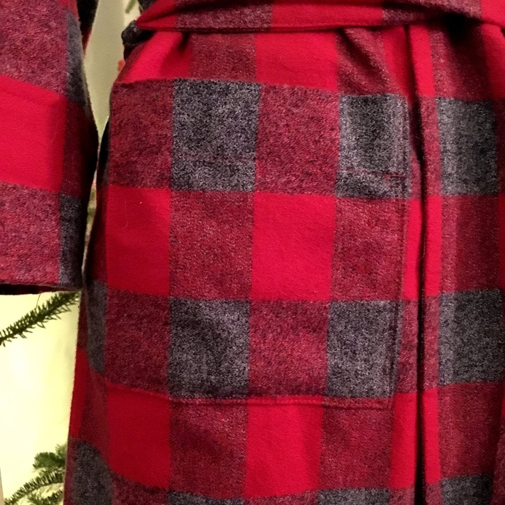 Mammoth Cotton Flannel Fabric, Buffalo, Check- Red and Grey, 1/2 yard - Lakes Makerie - Minneapolis, MN