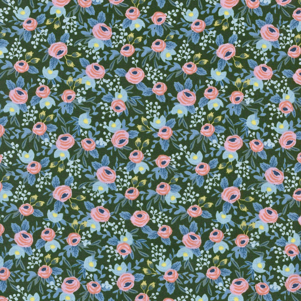 Rifle Paper Co. Menagerie - Rosa - Hunter Fabric, 1/2 yard - Lakes Makerie - Minneapolis, MN