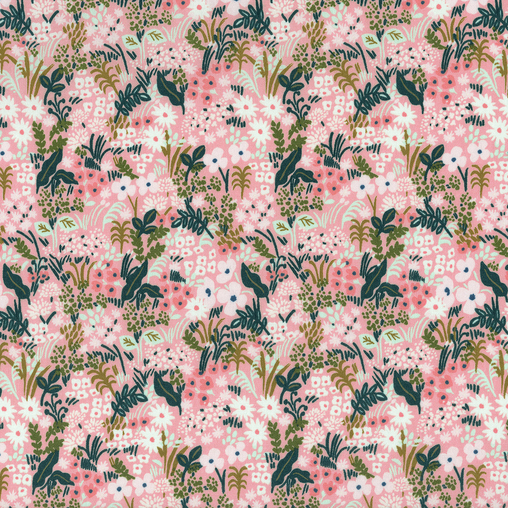 Remnant, Rifle Paper Co, English Garden - Meadow - Pink Fabric, 1 yard bolt end remnant