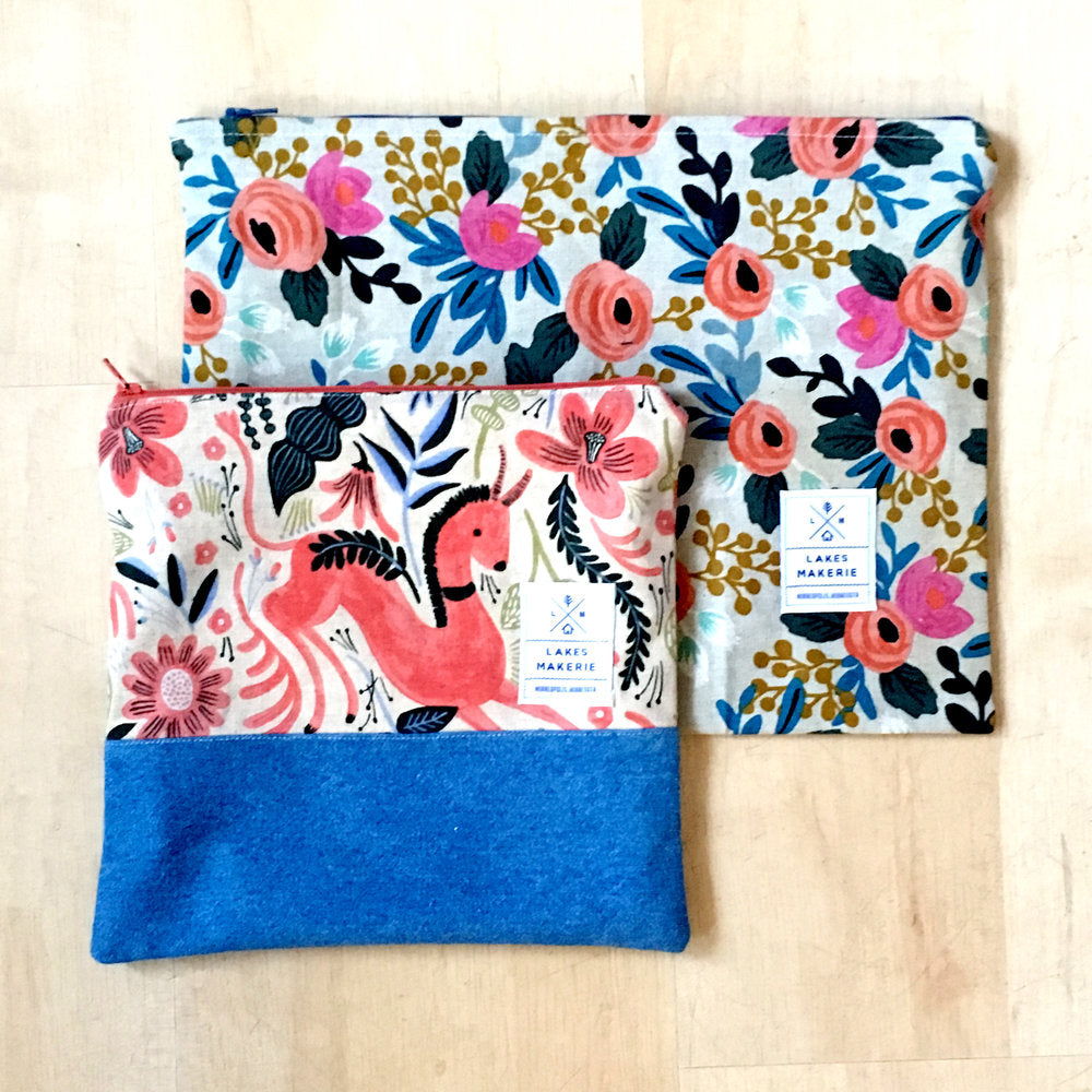 Sew the Kenilworth Clutch/Zipper Pouch, Saturday January 26, 1-4 PM - Lakes Makerie - Minneapolis, MN