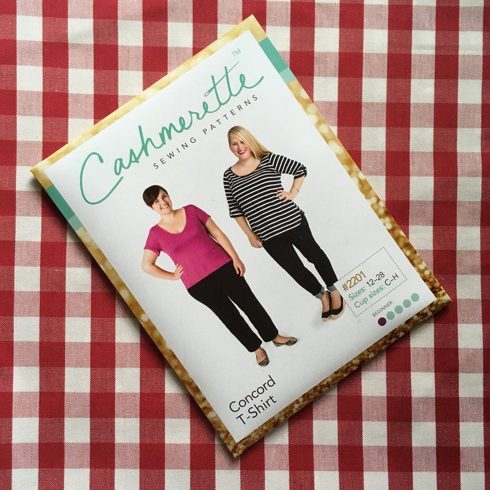 Cashmerette Concord T-shirt Printed Pattern - Lakes Makerie - Minneapolis, MN