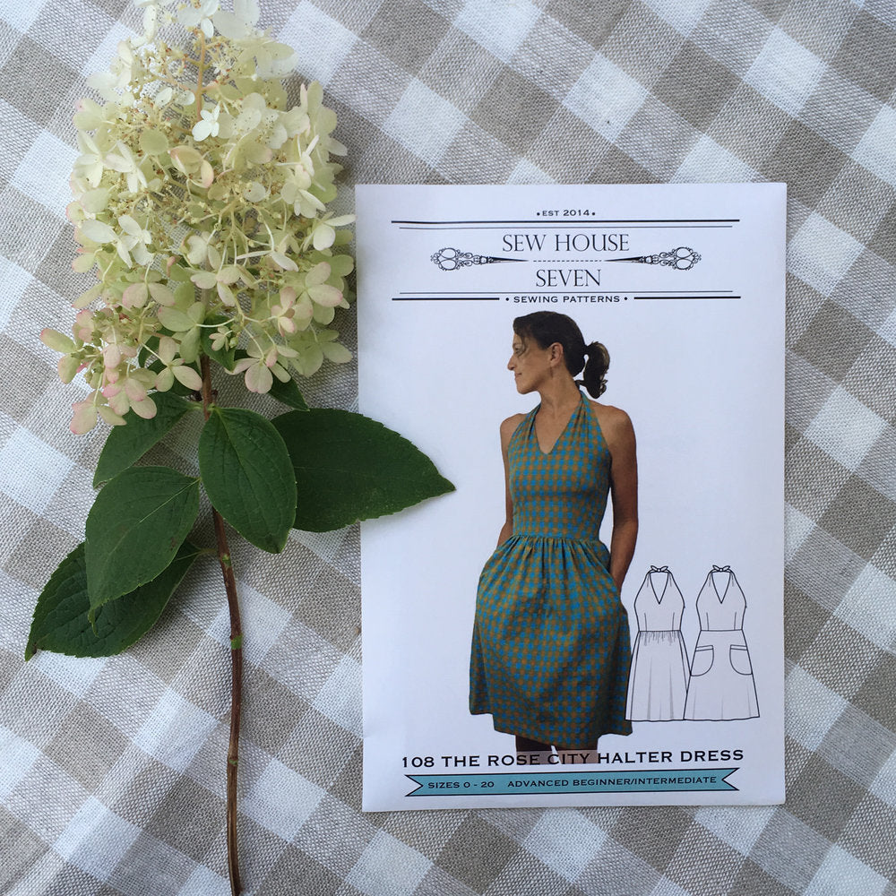 Sew House Seven, Rose City Halter Dress Pattern - Lakes Makerie - Minneapolis, MN
