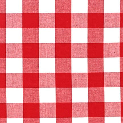 Carolina 1 inch Gingham cotton fabric, multiple colorways - Lakes Makerie - Minneapolis, MN