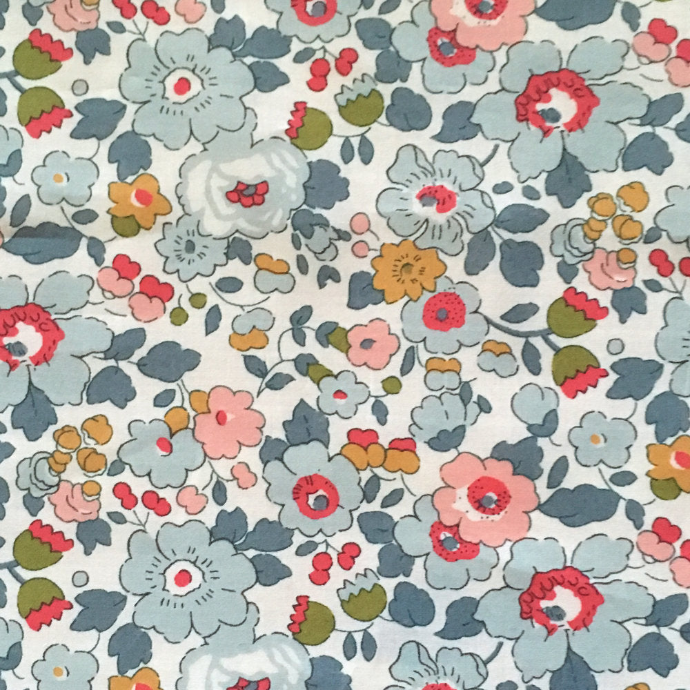 Liberty Tana Lawn Cotton Fabric- Betsy, Chalk Blue Multi, 1/2 yard - Lakes Makerie - Minneapolis, MN