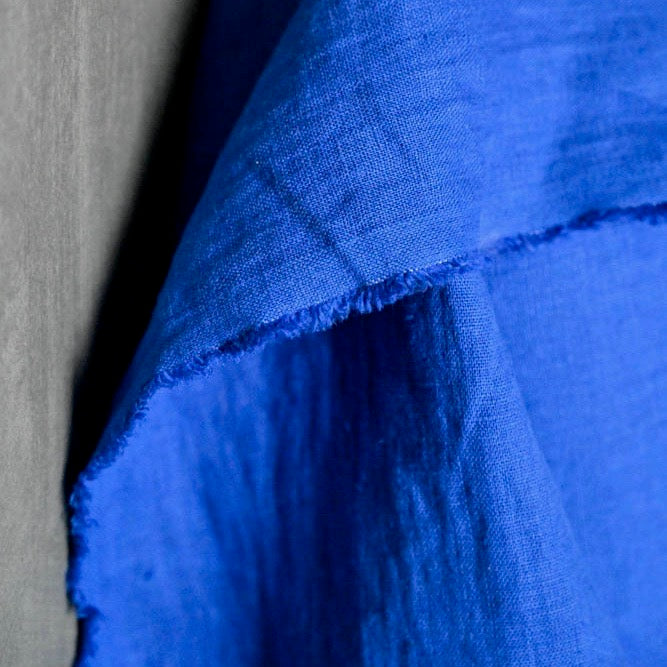 "Merchant & Mills, ""Cobalt"" laundered European linen, 1/2 yard"
