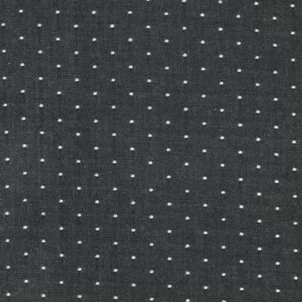 Cotton Dot Chambray, Black, 1/2 yard - Lakes Makerie - Minneapolis, MN