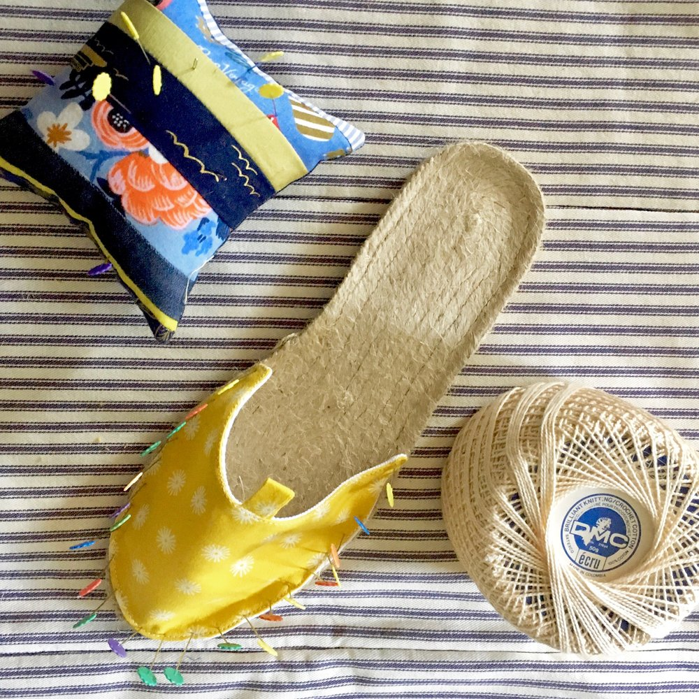 Espadrille Sewing class 101, Sunday June 10 1-5 PM - Lakes Makerie - Minneapolis, MN