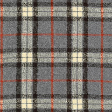 Mammoth Flannel, Grey Plaid, 1/2 yard - Lakes Makerie - Minneapolis, MN
