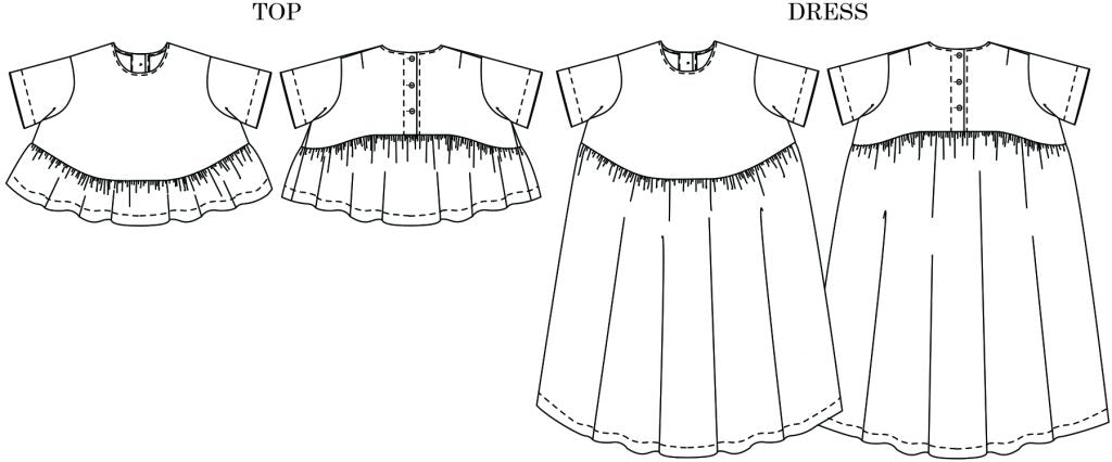 Merchant & Mills, Florence Top or Dress Pattern