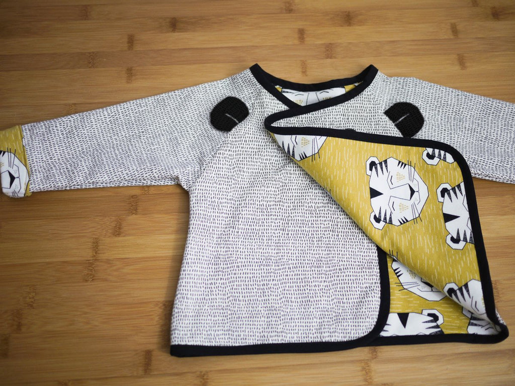 Ikatee (France), Grand'Ourse Cardigan Sewing Pattern - Baby, 6M-4Y