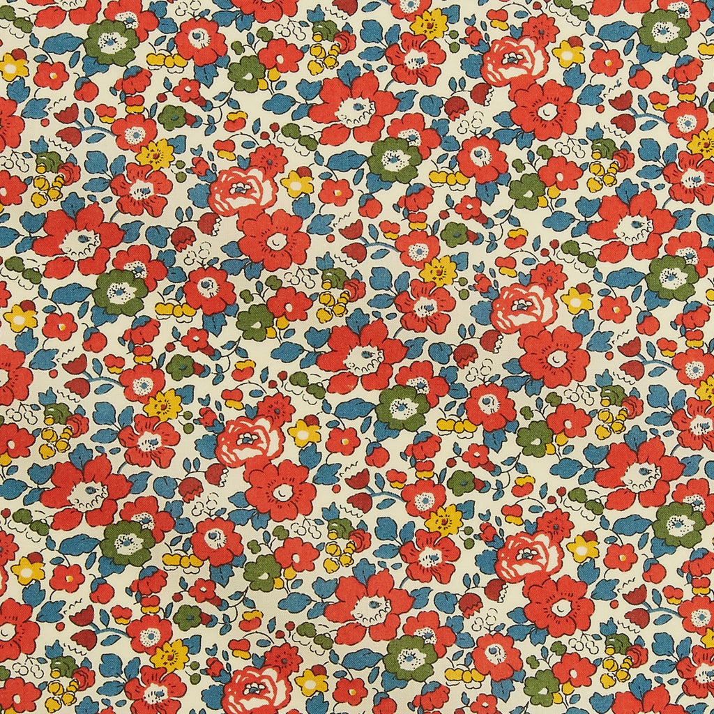 Liberty Tana Lawn Cotton Fabric, Betsy Ann Red, 1/2 yard - Lakes Makerie - Minneapolis, MN