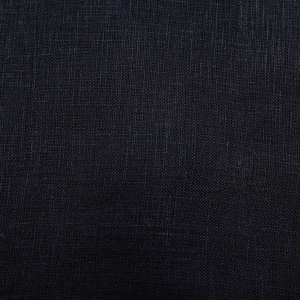 Birch Solid Organic linen fabric, 1/2 yard, navy or black - Lakes Makerie - Minneapolis, MN