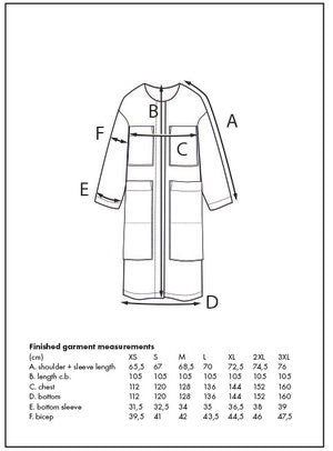 The Assembly Line, Lab Coat Sewing Pattern, Sweden, Sizes  XS-L - Lakes Makerie - Minneapolis, MN